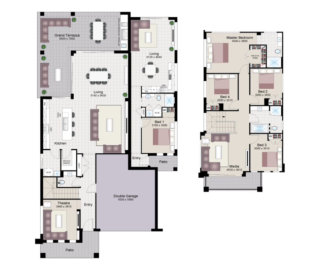 Double Storey House With Granny Flat Designs