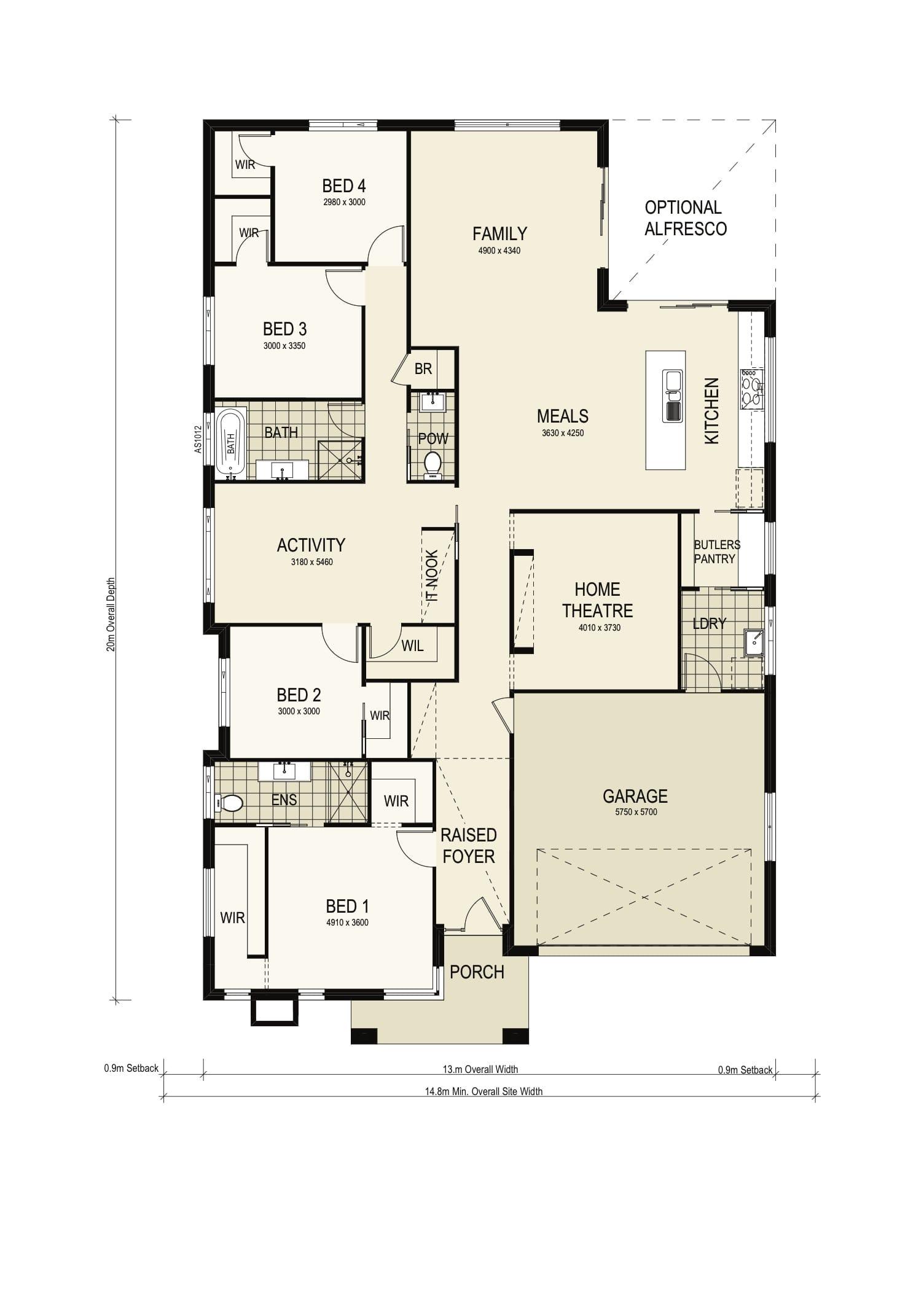 Montgomery Homes Avalon 242 Grande Warnervale Floorplan