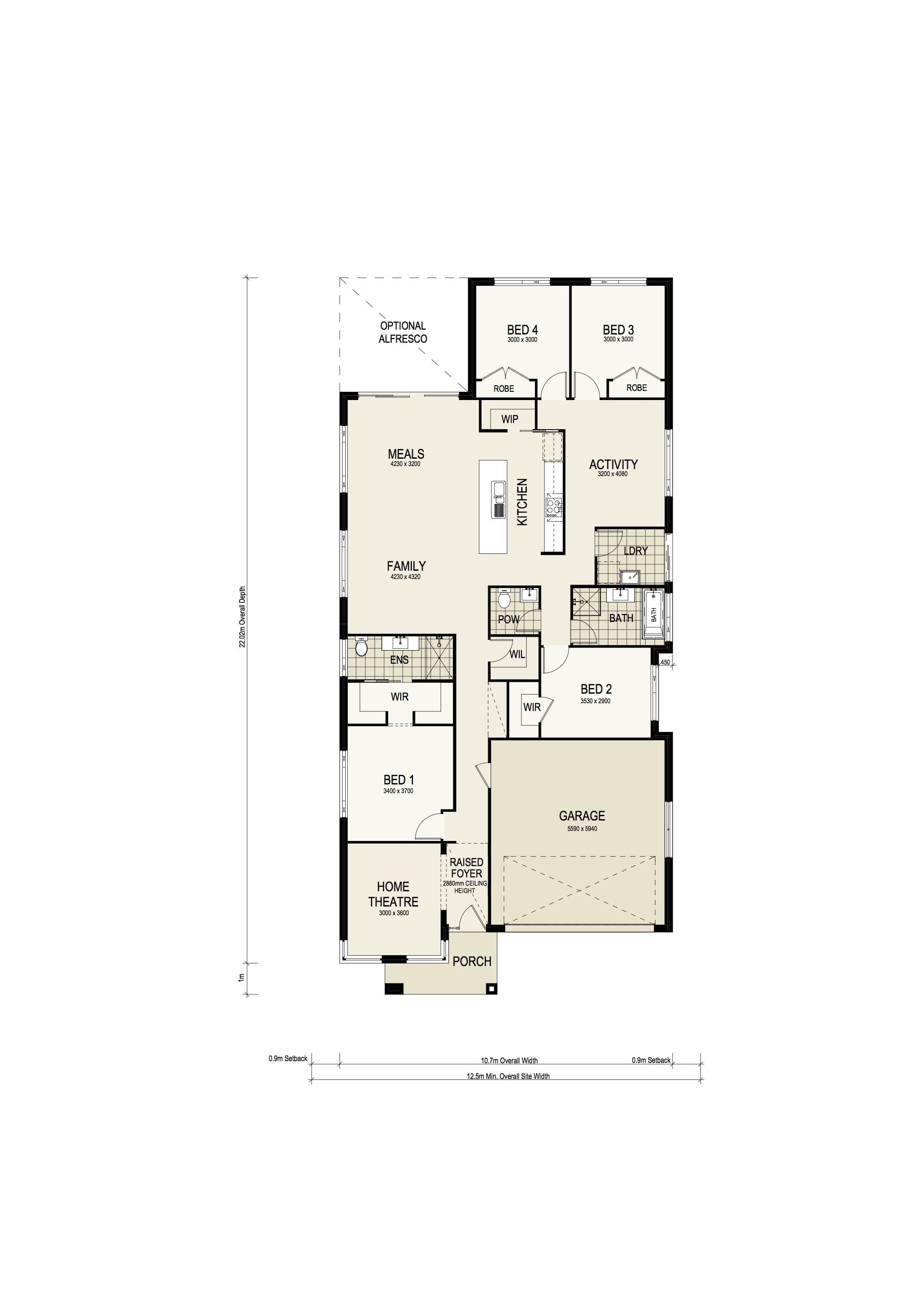 Montgomery Homes Southport 217 Retro Warnervale Floorplan