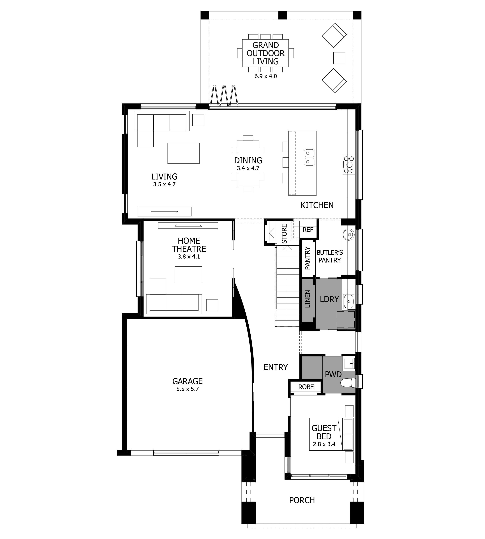 Enigma 32 Warnervale Leppington Ground Floorplan