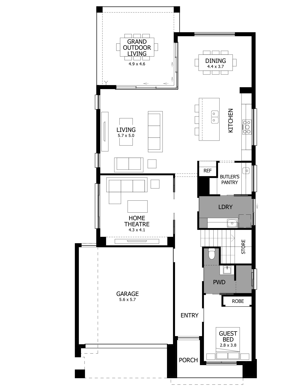Nautica 36 HomeWorld Warnervale Ground Floor Floorplan
